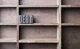 Wooden Letter Debt