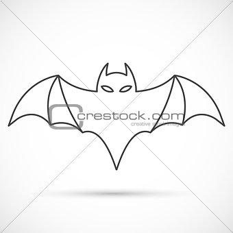Bat outline icon
