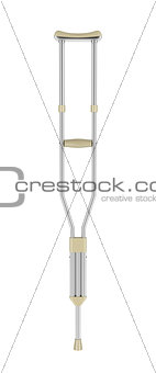 Crutch isolated on white