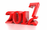 2016-2017 change represents the new year 2017