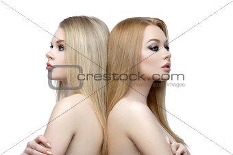 Beautiful girls with makeup