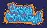 Happy Birthday Graffiti Card