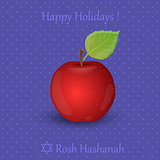 Jewish New Year greeting card. Rosh Hashanah. Vector illustration.