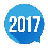 Year 2017 sign vector