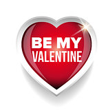 Be my Valentine vector heart