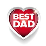 Best Dad vector heart