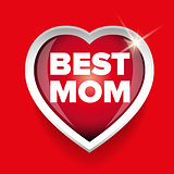Best Mom vector heart