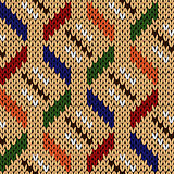 Seamless knitting geometrical pattern in various colors