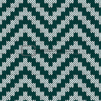 Knitting zigzag seamless pattern in muted colors
