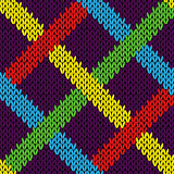 Seamless knitting pattern with color lines