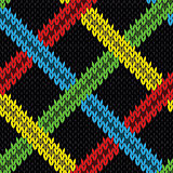 Seamless knitting pattern with various color lines