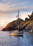 Yacht, Cornwall, England