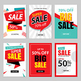 Set of sale website banner templates.Social media banners for on
