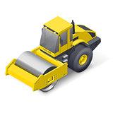 Soil compactor icon