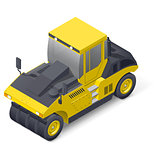 Pneumatic road compactor icon