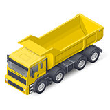 Tip truck isometric detailed icon