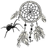 Dream Catcher with Spider