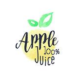 Apple 100 Percent Fresh Juice Promo Sign