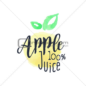 Apple 100 Percent Fresh Juice Promo Sign