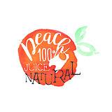Peach 100 Percent Fresh Juice Promo Sign