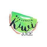 Kiwi 100 Percent Fresh Juice Promo Sign