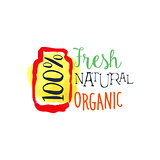 Organic 100 Percent Fresh Juice Promo Sign