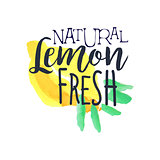 Lemon 100 Percent Fresh Juice Promo Sign