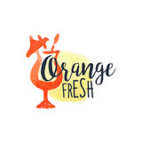 Orange 100 Percent Fresh Juice Promo Sign