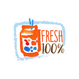 Percent Fresh Smoothie Promo Sign