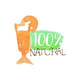 Percent Fresh Orange Juice Promo Sign