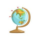 Globe With Flag Markings