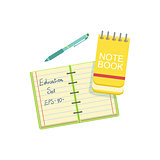 Notebook, Block Note And  Pen