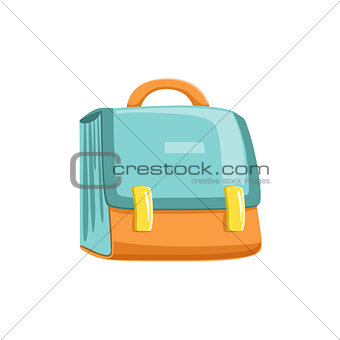 Blue And Orange Schoolbag