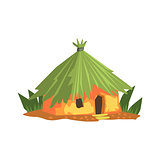 Primitive Tropical Building Jungle Landscape Element