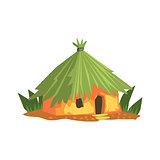 Primitive Tropical Building Jungle Landscape Element
