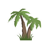Two Palm Trees Jungle Landscape Element