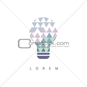Abstract Shapes Inside Idea Bulb  Design Pastel Icons