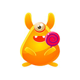 Yellow Toy Monster With Candy