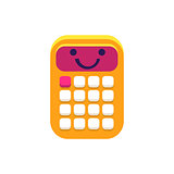Calculator Primitive Icon With Smiley Face