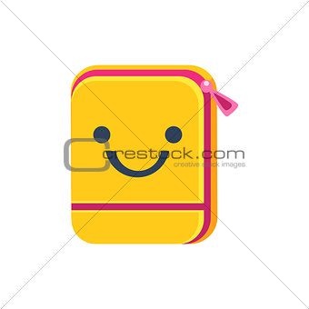 Folder With Zip Primitive Icon  Smiley Face
