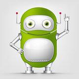 Cartoon Character green robot