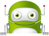 Cartoon Character green robot