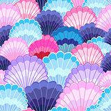 Multicolored pattern of seashells