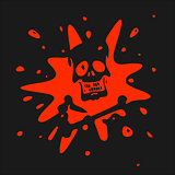 The symbol of the skull and blood