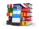 E-learning. Mobile dictionary. Learning languages online. Smartp