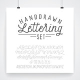 Vintage hand drawn type lettering set