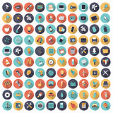 Flat design icons for technology, science and industrial