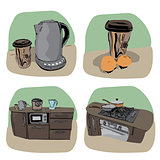 Kitchen icon - four variations
