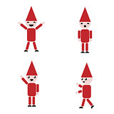 Set of Santa, clip art vector