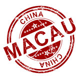 Red Macau stamp